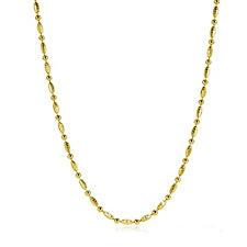 Veronese Classic Alternating Diamond Cut 45cm Necklace Sterling Silver