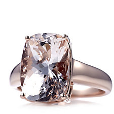 6ct Morganite Cushion Cut Cocktail Ring 9ct Rose Gold