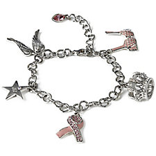 Breast Cancer Care Celebrity Charm 21cm Bracelet