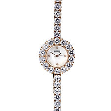 Diamonique 39ct tw Mother of Pearl Dress Watch