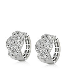 Diamonique by Tova 1.4ct tw Love Wave Earrings Sterling Silver