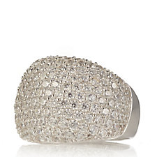 Michelle Mone for Diamonique 2.7ct tw Pave Ball Cocktail Ring Sterling Silver