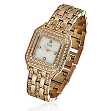 Diamonique by Tova 3.1ct tw Mother of Pearl Dial Watch