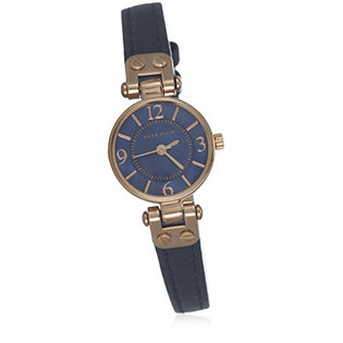 Anne klein blossom leather strap watch 664096 for Anne klein leather strap