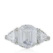 Michelle Mone for Diamonique 7.26ct tw 3 Stone Ring Sterling Silver