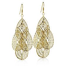 Veronese Glamour Diamond Cut Earrings Sterling Silver