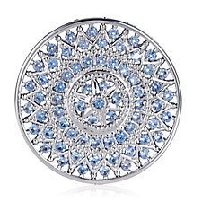 Emozioni Silver Plated Prisma Azure Large Coin Insert Brass
