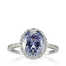 Diamonique 3.1ct tw Simulated Pale Moon Mystic Topaz Ring Sterling Silver