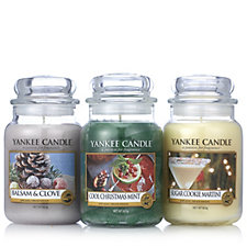 Yankee Candle Set of 3 Pure Essence Large Jars