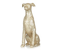 Alison Cork Large Sitting Sequin Hound - 705702