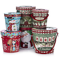 Lindy Bowman 6 Piece Gift Pails with Window