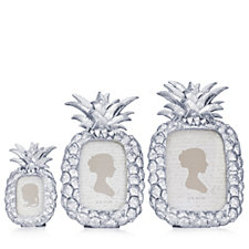 706103 - Alison Cork Set of 3 Pineapple Picture Frames