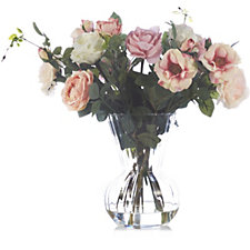 706303 - Peony Roses in Optic Vase