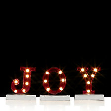 Home Reflections White LED Decorative Joy Sign