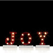 Home Reflections White LED Decorative Joy Sign