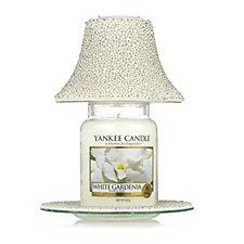 Yankee Candle Bubble Mosaic Shade & Tray with White Gardenia Large Jar
