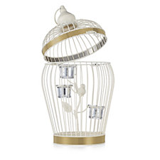 705706 - Home Reflections Decorative Sparkle Birdcage with LED Candles