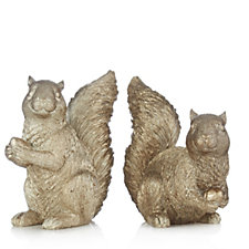 Home Reflections Set of 2 Decorative Squirrels
