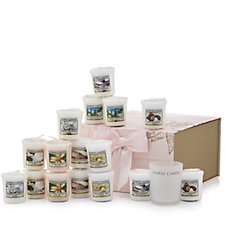 Yankee Candle Fresh Petals Gift Box Selection with 16 Votives & Candle Holder