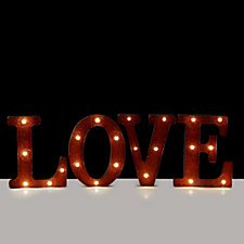 704907 - Home Reflections Festive Metal LED Love Sign