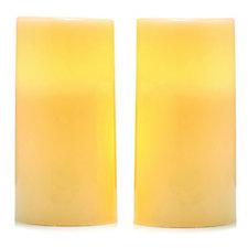 Set of 2 LED Flameless Pillar Candles