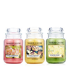 707107 - Yankee Candle 3 Large Jars Summer Time