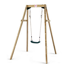 Plum Wooden Swing Set