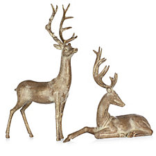 Alison Cork Set of 2 Decorative Deer Decor