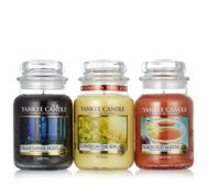 Yankee Candle Set of 3 Candle Warm Summer Nights Large Jars