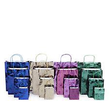 704612 - Lindy Bowman 16 Piece Metallic W/Glitter Christmas Bag Selection