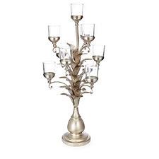 705713 - Alison Cork Candelabra Leaf Design with 10 Glass Votive Holders