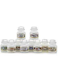 707113 - Yankee Candle Set of 10 Small Jars Simply White Collection