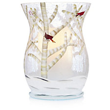Lightscapes Crackle Vase with Flameless Pillar Candle