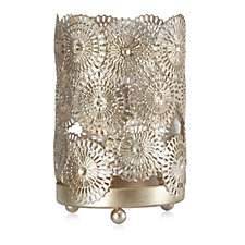 705716 - Alison Cork Decorative Hurricane with Flameless Candle