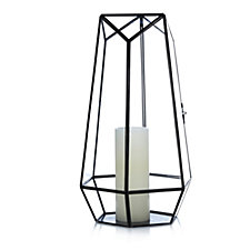Home Reflections Terrarium Glass Lantern with LED Candle