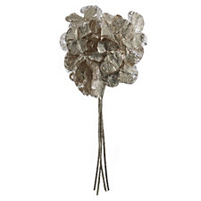 Alison Cork Set Of 4 Glitter Jewelled Gold Orchid Stems