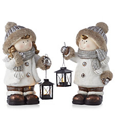 Home Reflections Set Of 2 Snow Buddy Porch Greeters