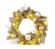 Home Reflections Hearts of Gold Wreath with 30 LED Lights