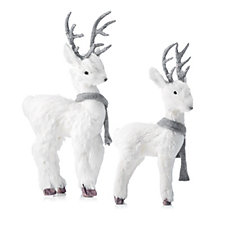 706021 - Home Reflections Set of 2 Decorative Woodland Reindeer