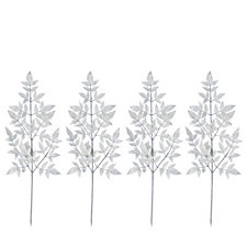 Alison Cork Set of 4 Silver Nandina Leaf Stems