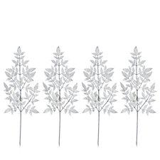 Alison Cork Set of 4 Silver Nandina Leaf Stems
