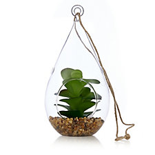 Home Reflections Set of 3 Hanging Glass Faux Planters