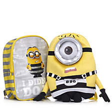 Despicable Me 3 Backpack & Jail Minion Stuart Plush Backpack