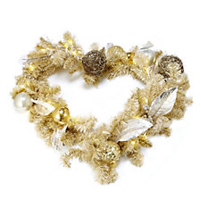 Home Reflections Hearts of Gold Garland with 40 LED Lights