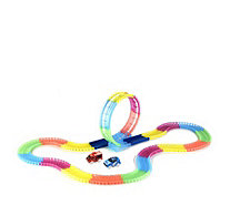 Twister Tracks 11ft Neon Glow Flexible Track with Loop & 2 Vehicles - 705224