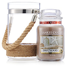 Yankee Candle Coastal Living Twilight Dusk Large Rope Lantern & Large Jar