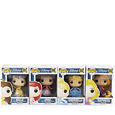 Disney Princess Pop! Vinyl Set of 4 Collectable Figures