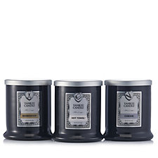 Yankee Candle Set of 3 Barber Shop Footed Tumblers