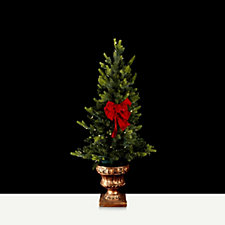 Bethlehem Lights Stake Tree with Bow in Urn