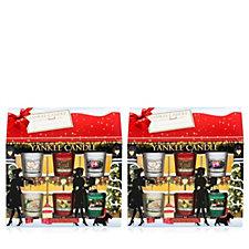 Yankee Candle Set of 2 Christmas Gift Box Houses